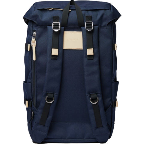 Sandqvist Harald Backpack | Navy/Natural Leather