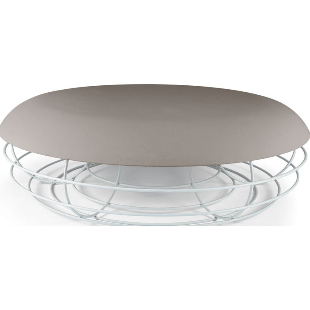 Atipico Nudo Coffee Table | Signal White/Dove Gray 9281
