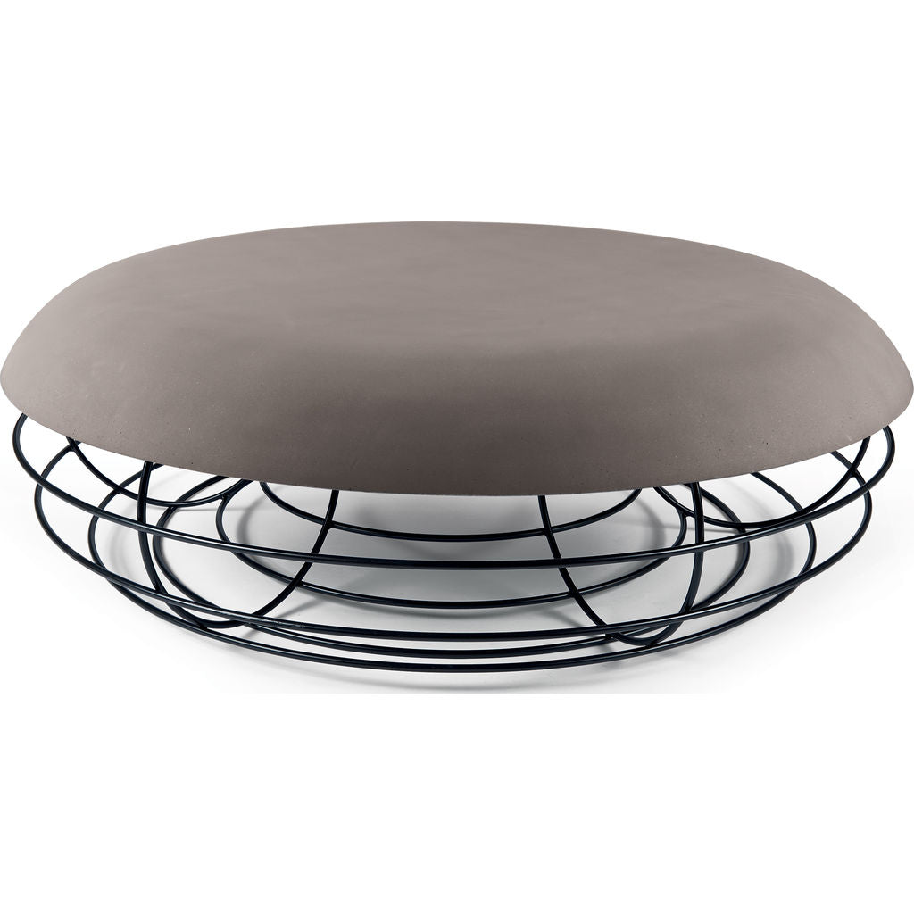 Atipico Nudo Coffee Table | Signal Black/Dove Gray 9284