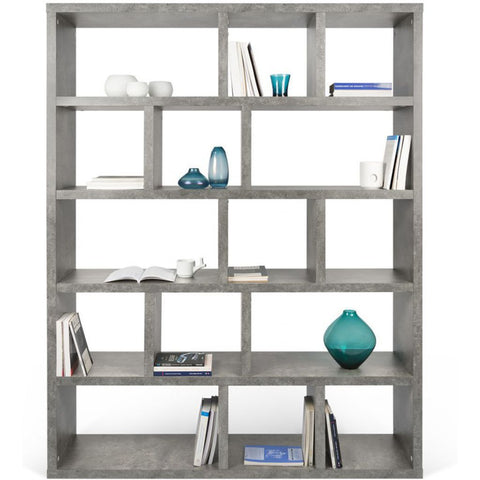 TemaHome Berlin 5 Level Bookcase 150 Cm | Concrete Look 9500.320309