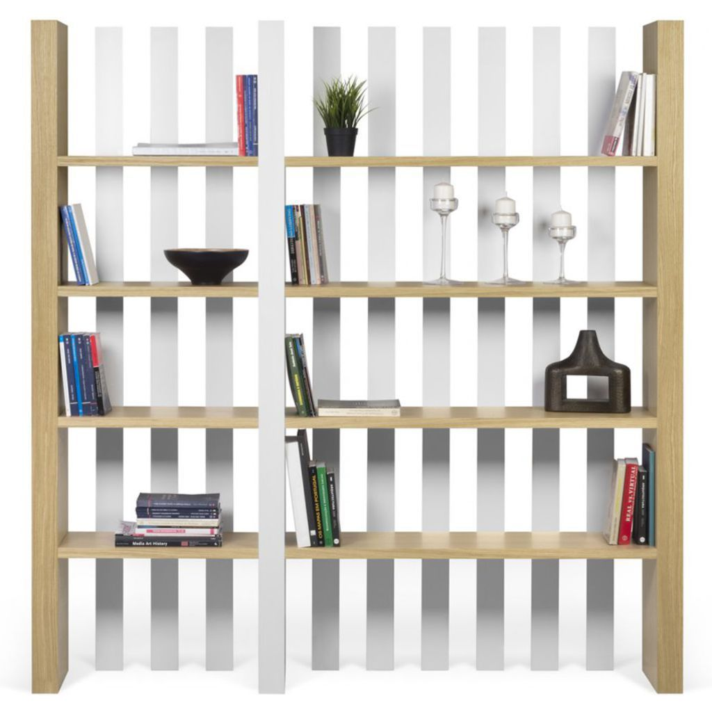 TemaHome Wind Bookcase | Oak / Pure White 9500.321566