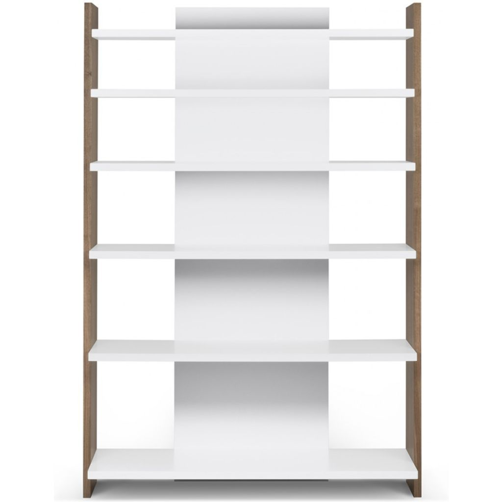 TemaHome Niko Shelving Unit | Walnut / Pure White 9500.321627