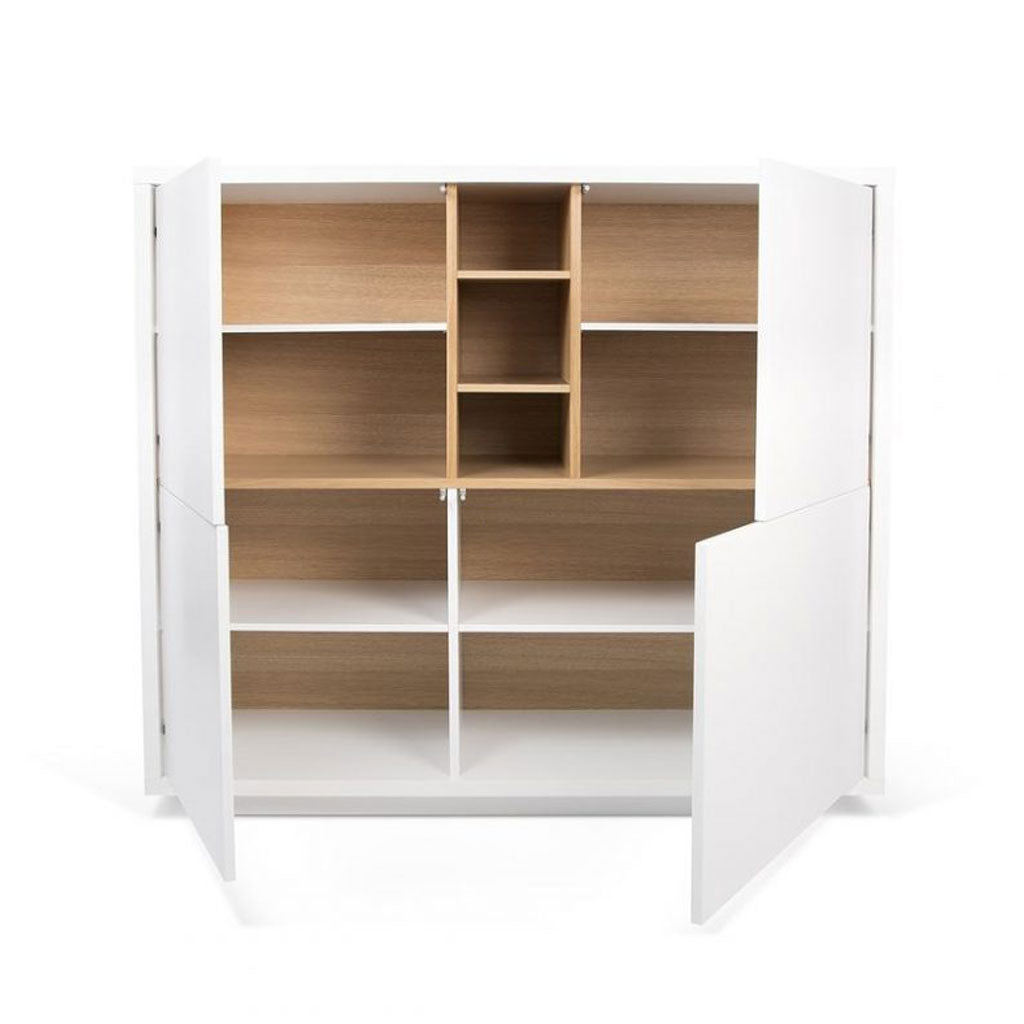 Temahome Niche Cupboard | Pure White / Oak