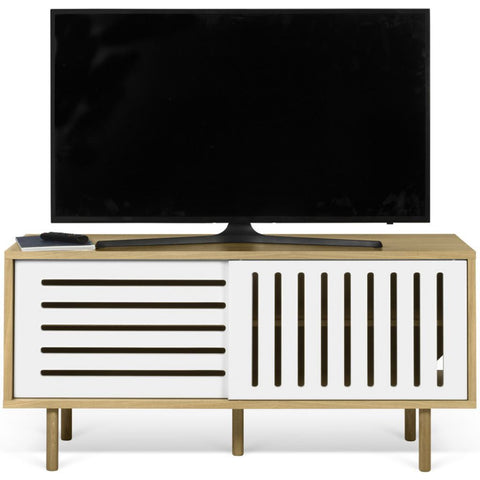 TemaHome Dann Stripes Tv Table | Pure White 9003.402579