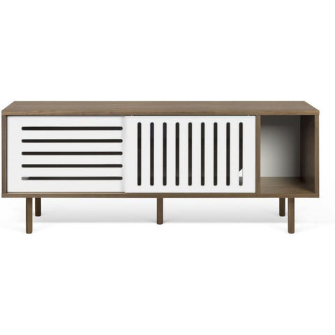 TemaHome Dann Stripes Sideboard | Walnut / Pure White 9500.402593