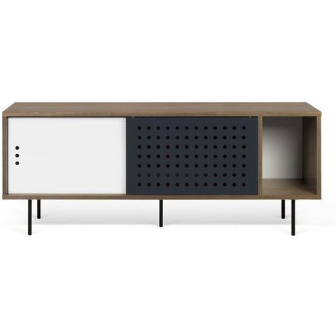 TemaHome Dann Dots Sideboard | Walnut / Metallic White & Anthracite 9500.40263