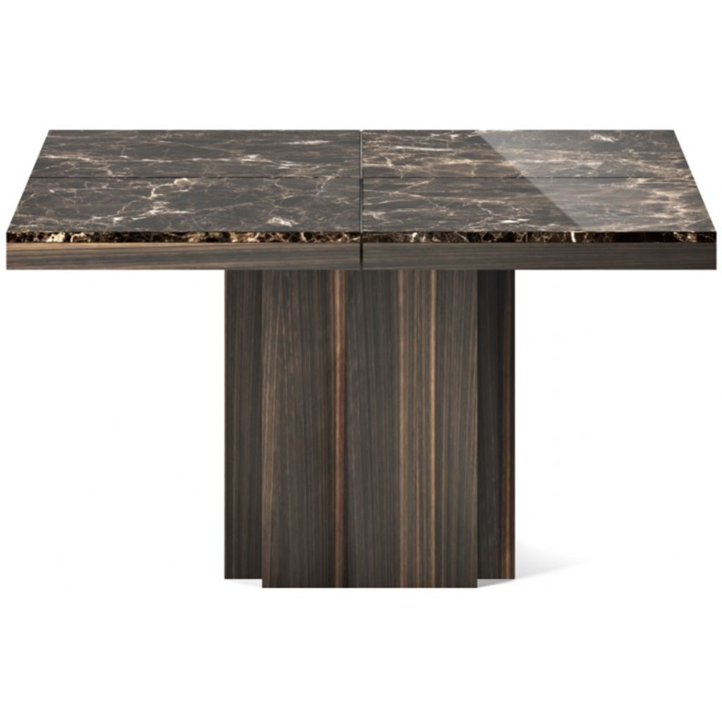 TemaHome Dusk 130 Dining Table Brown Marble / Smoked
