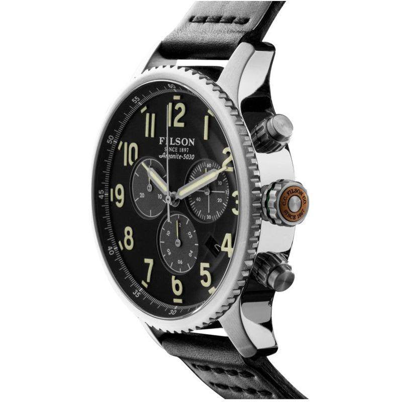 Filson Mackinaw Field 43mm Chronograph Watch | Black