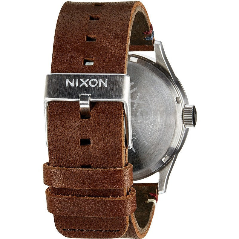 Nixon Sentry Leather Men's Watch | Black / Brown