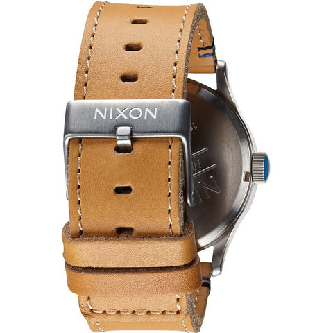 Nixon Sentry Leather Men's Watch | Natural / Black
