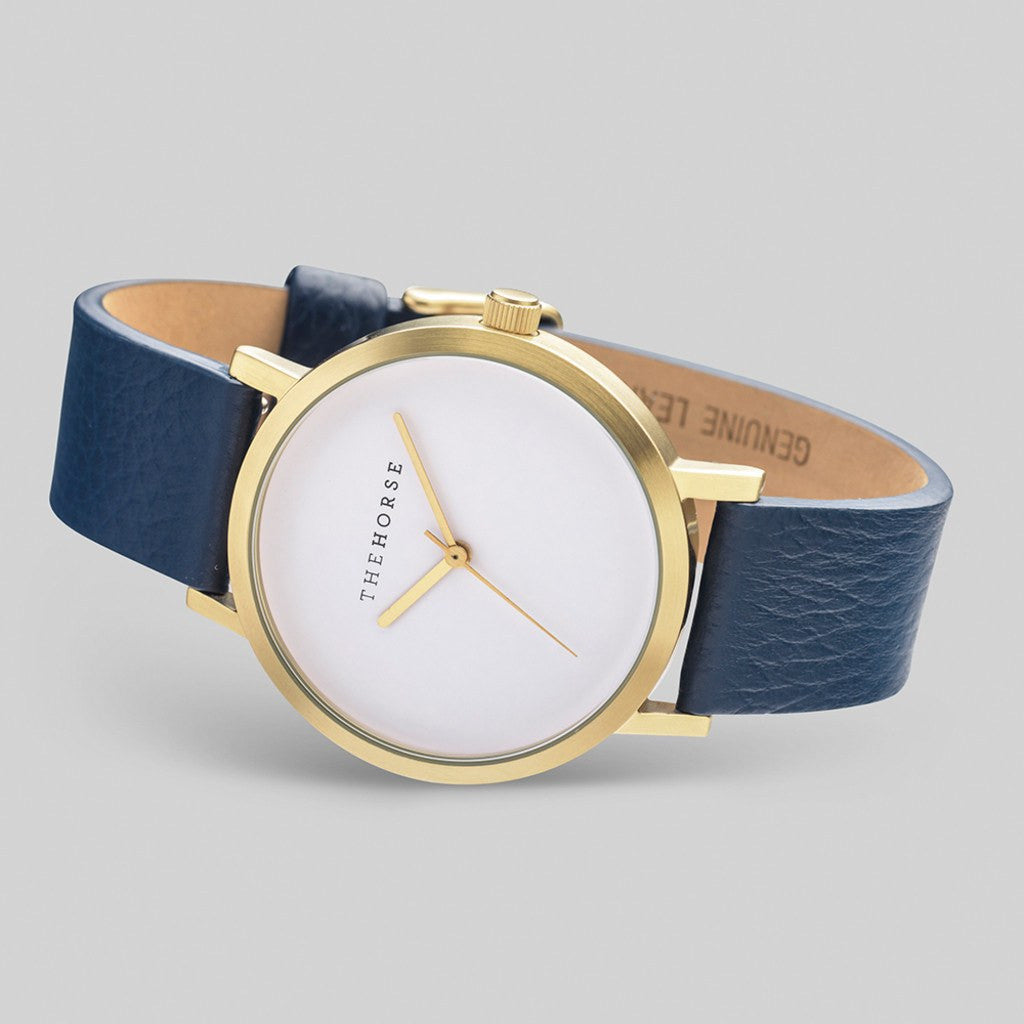 The Horse Original Gold Watch | Navy A16