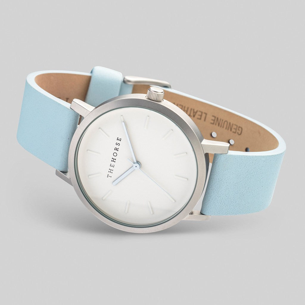 The Horse Original Silver Watch | Powder Blue A18