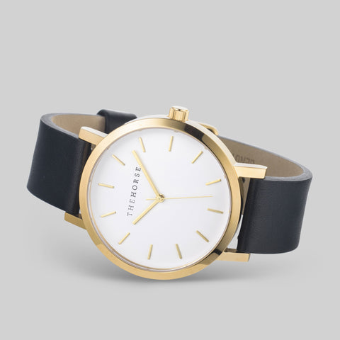The Horse Original Gold Watch | White/Black A21