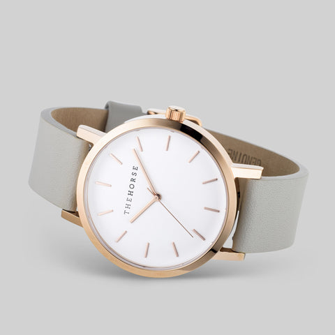 The Horse Original Rose Gold Watch | White/Grey A23