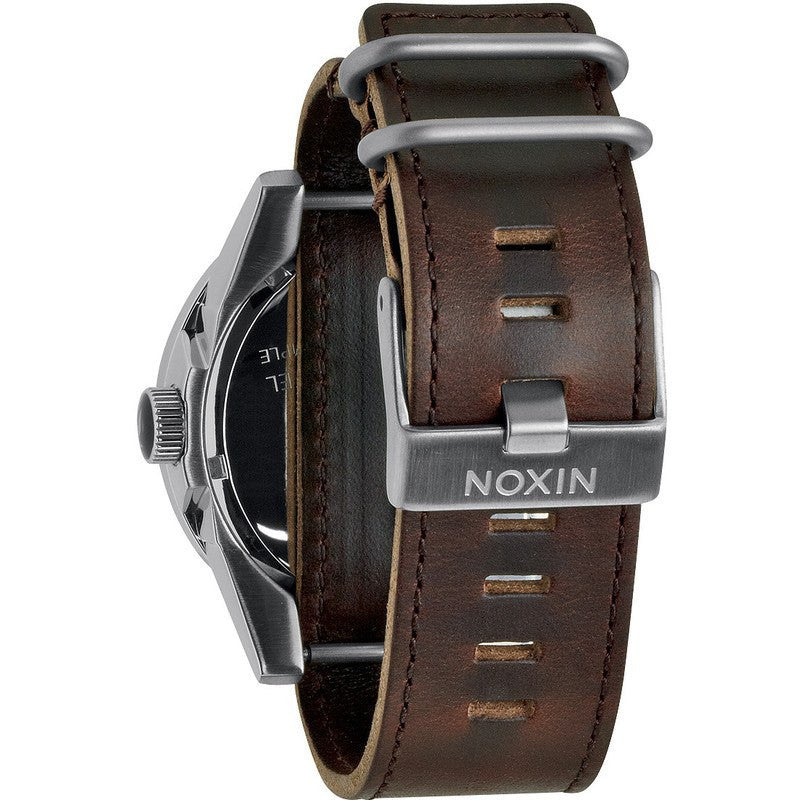 Nixon Corporal Men's Watch | Silver / Brown