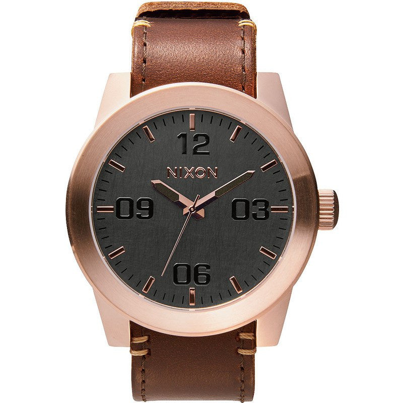 Nixon Corporal Men's Watch | Rose Gold / Gunmetal / Brown
