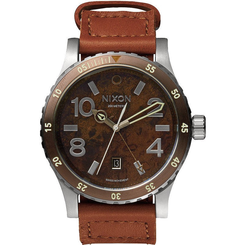 Nixon Diplomat Men's Watch | Dark Copper / Saddle