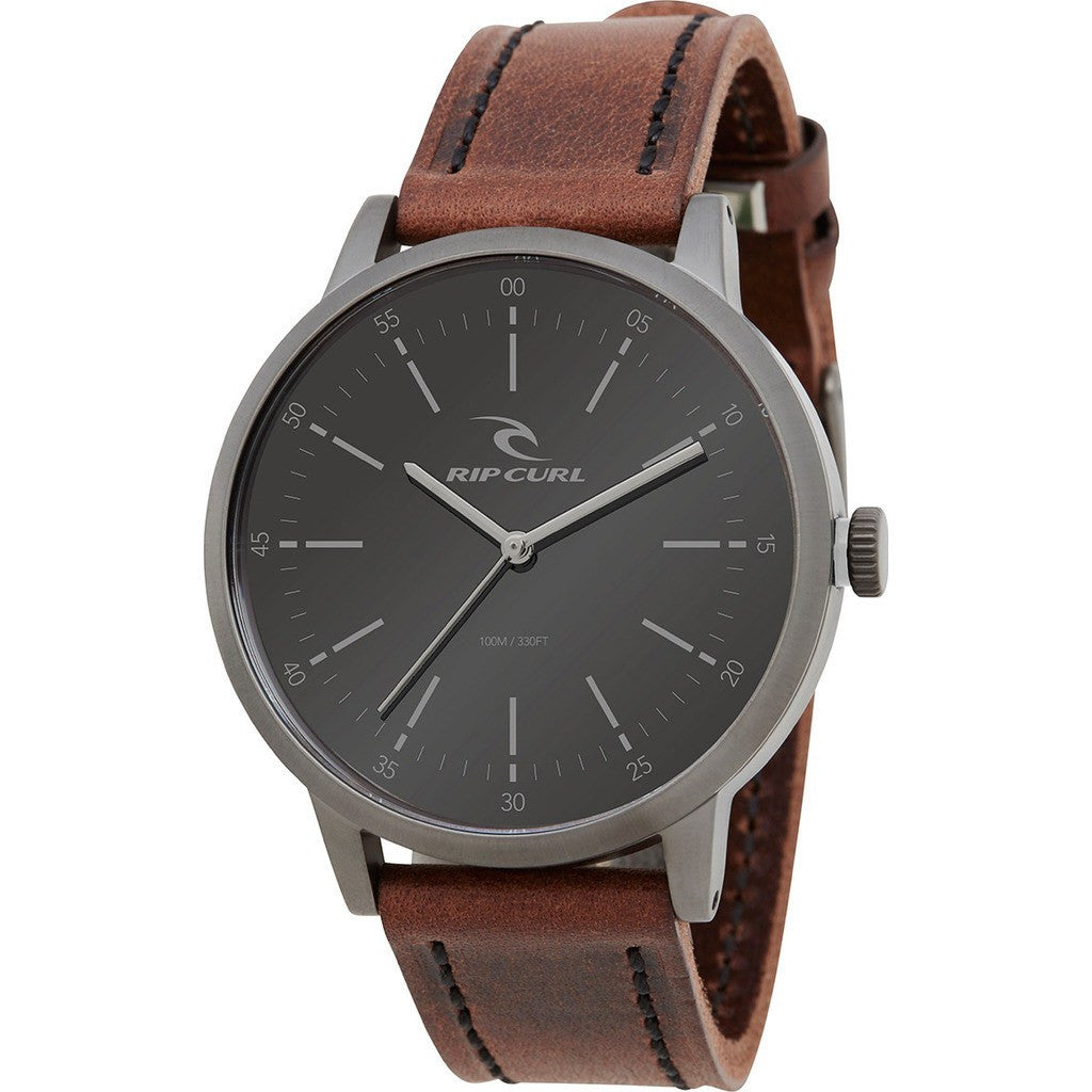 Rip Curl Drake Gunmetal Leather Watch | Gunmetal A2793-GUN