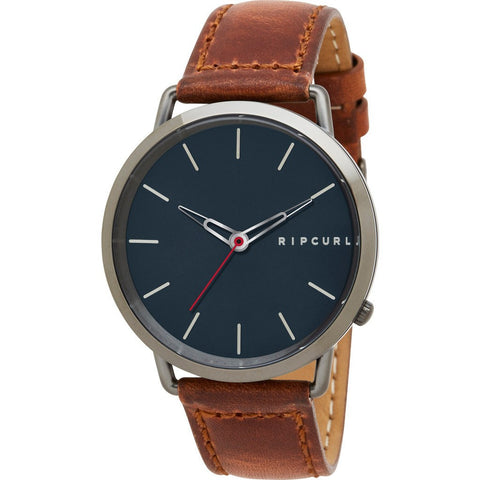 Rip Curl Ultra Gunmetal Leather Watch | Gunmetal Grey (GUN) A2995
