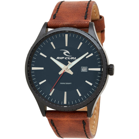 Rip Curl Agent Midnight Leather Watch | Navy (NAV) A3014