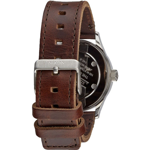 Nixon Sentry 38 Leather Men's Watch | Blue / Brown