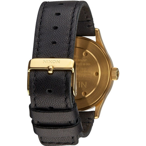 Nixon Sentry 38 Leather Men's Watch | Gold / Black