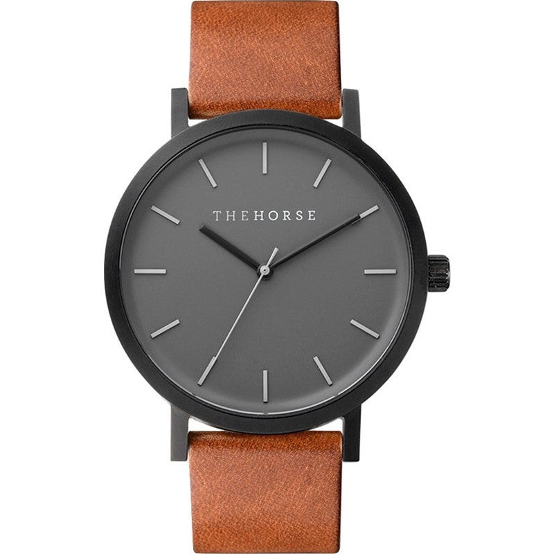 The Horse Original Matte Black Watch | Tan ST0123-A4