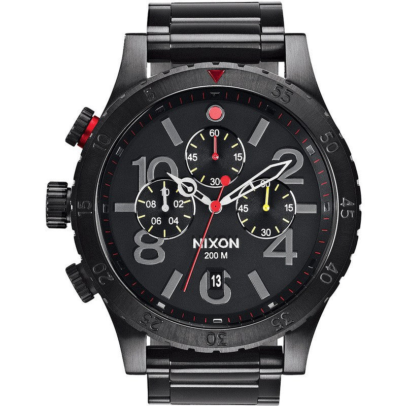 Nixon 48-20 Chrono Men's Watch | All Black / Multi