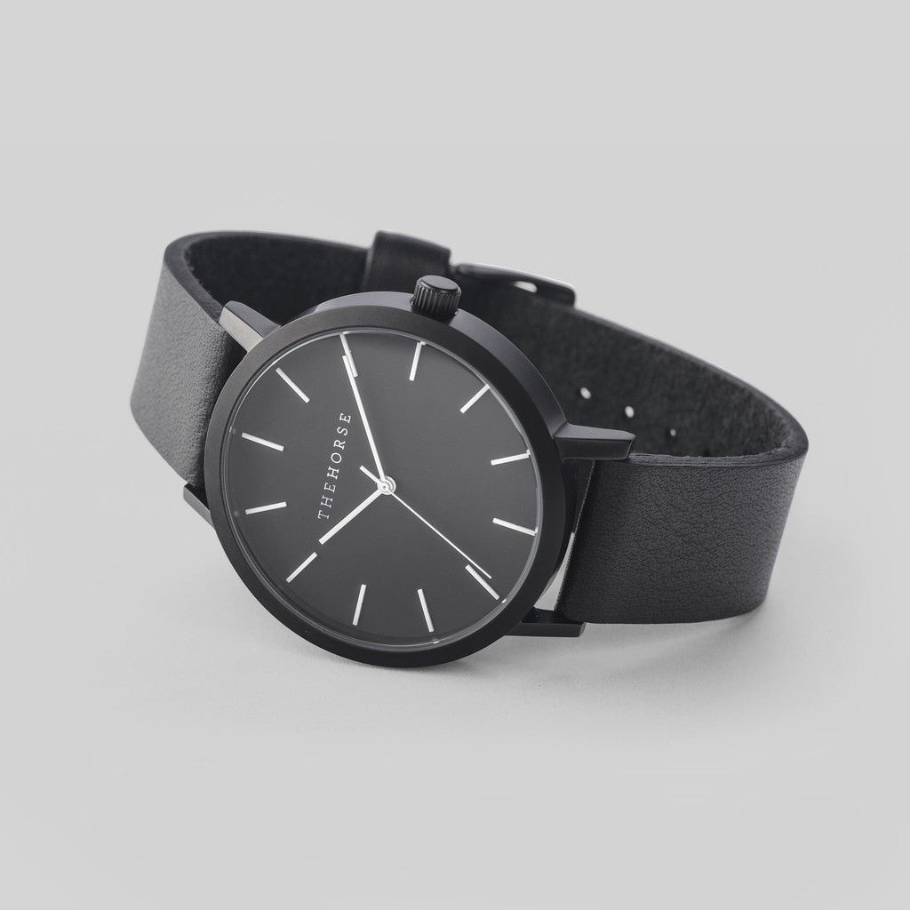 The Horse Original Matte Black Watch | Black ST0123-A6