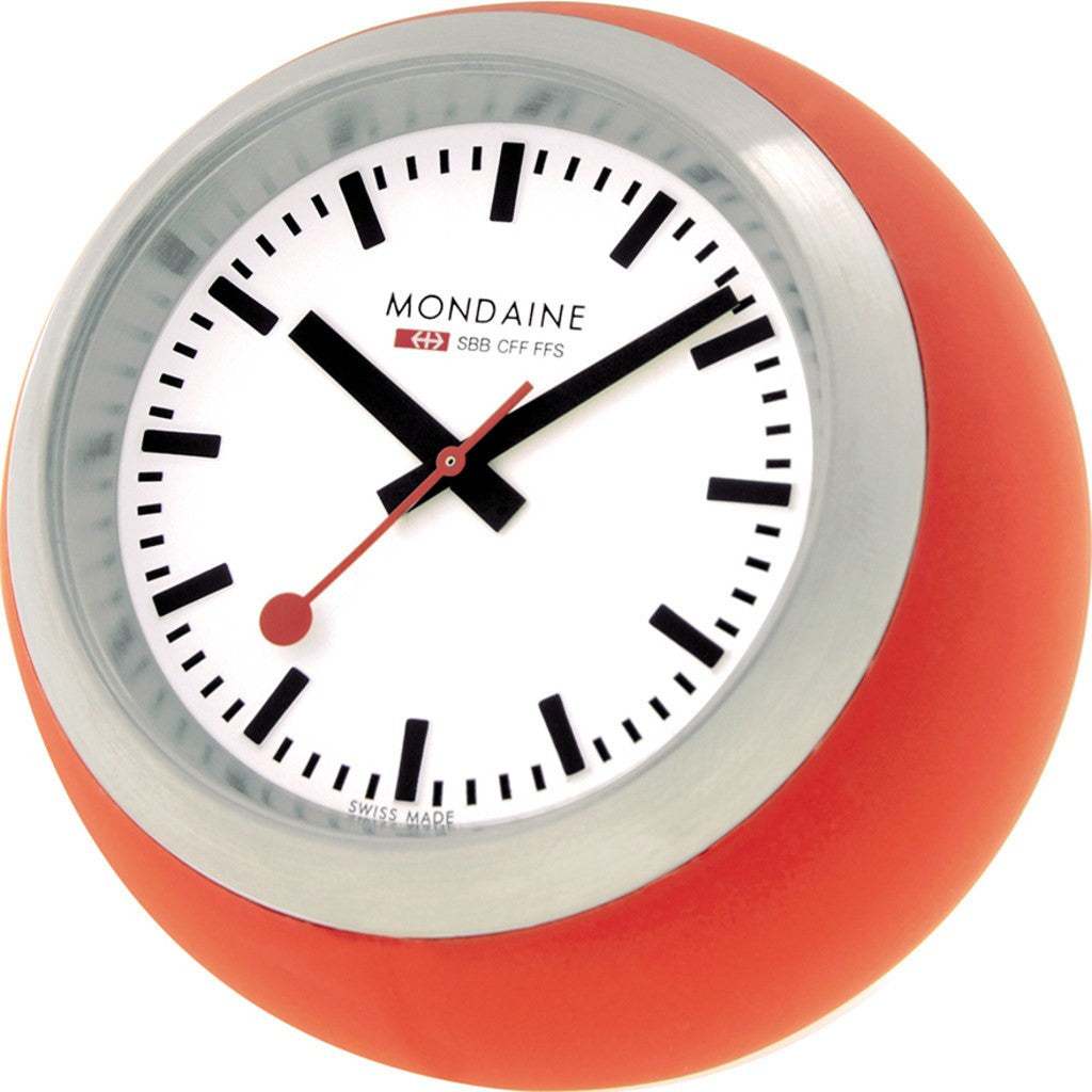 Mondaine Globe Desk Clock | Red A660.30335.16SBC
