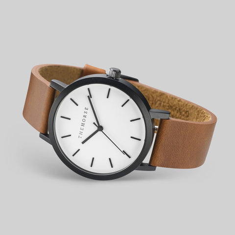 The Horse Original Matte Black Watch | Walnut ST0123-A9