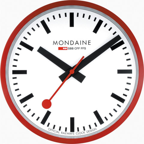 Mondaine Wall Clock | Red A990.CLOCK.11SBC