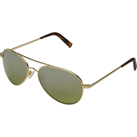 Randolph Engineering Coronado 23K Gold Sunglasses | Jade Metallic Nylon AR Skull 57MM AA71410-2-NY