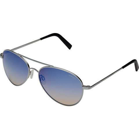 Randolph Engineering Coronado Matte Chrome Sunglasses | Oasis Metallic Nylon AR Skull 57MM AA74406-2-NY