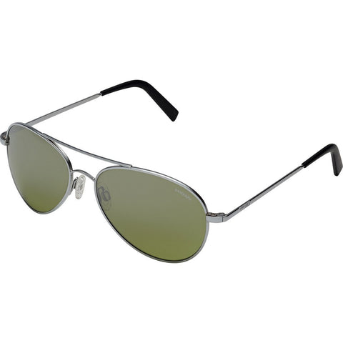 Randolph Engineering Coronado Matte Chrome Sunglasses | Jade Metallic Nylon AR Skull 57MM AA74410-2-NY