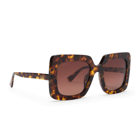 Diff Eyewear Sasha Sunglasses | Amber Tortoise + Brown Gradient