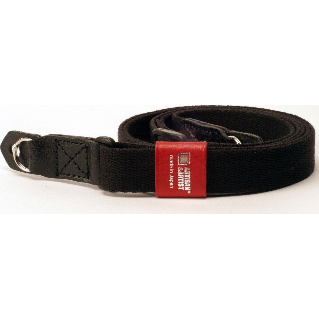 Artisan&Artist 100A Acrylic Camera Strap | Black/Red ACAM100BKRE