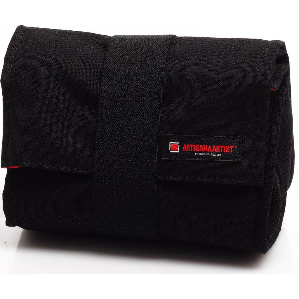 Artisan&Artist Canvas Camera Pouch | Black ACAM 75 BLK