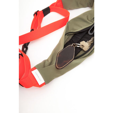 Cote & Ciel Adda Smooth Shoulder Strap | Khaki