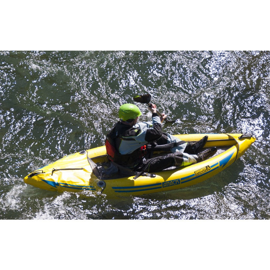 Advanced Elements Attack - Whitewater Kayak | Yellow/Blue AE1050-Y