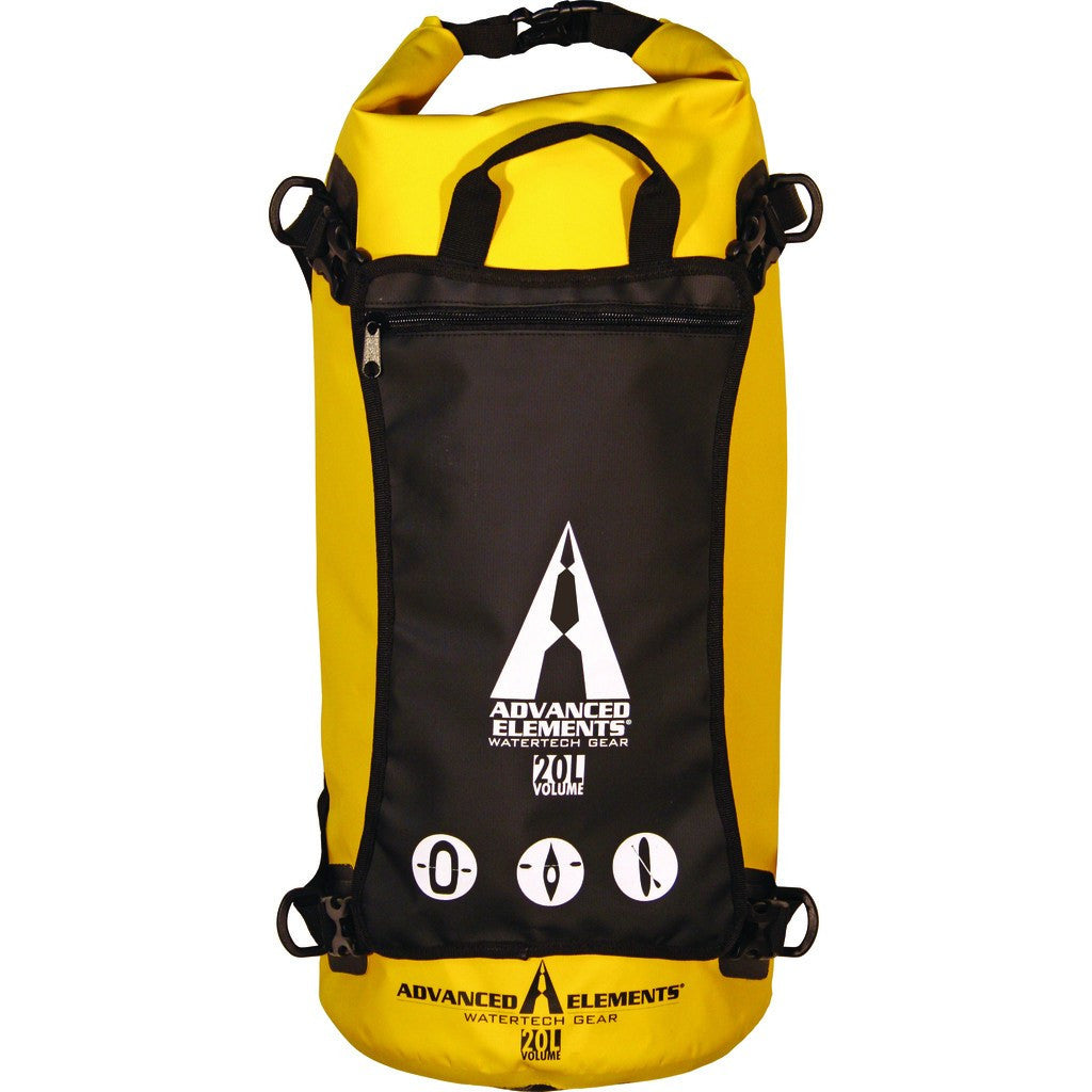 Advanced Elements 20L StashPak Rolltop Dry Bag | Yellow/Black AE3507