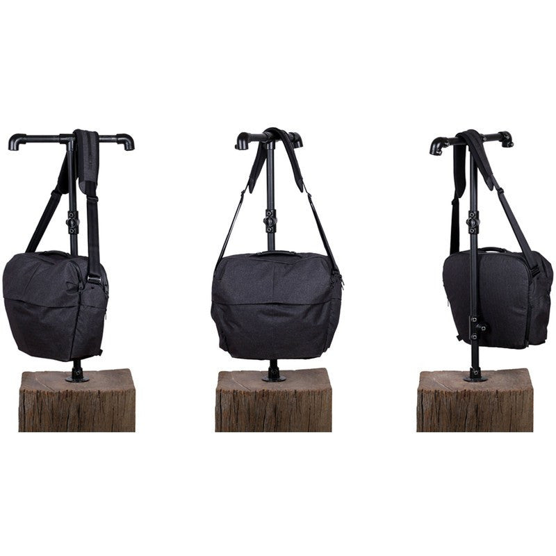 Alchemy Equipment Large Shoulder Bag | Black Wax