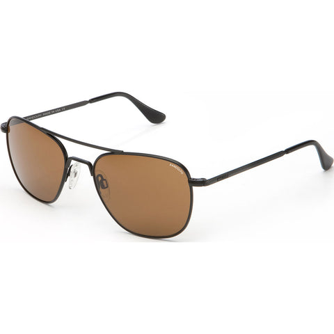 Randolph Engineering Aviator Matte Black | Tan Polarized Skull- Af012