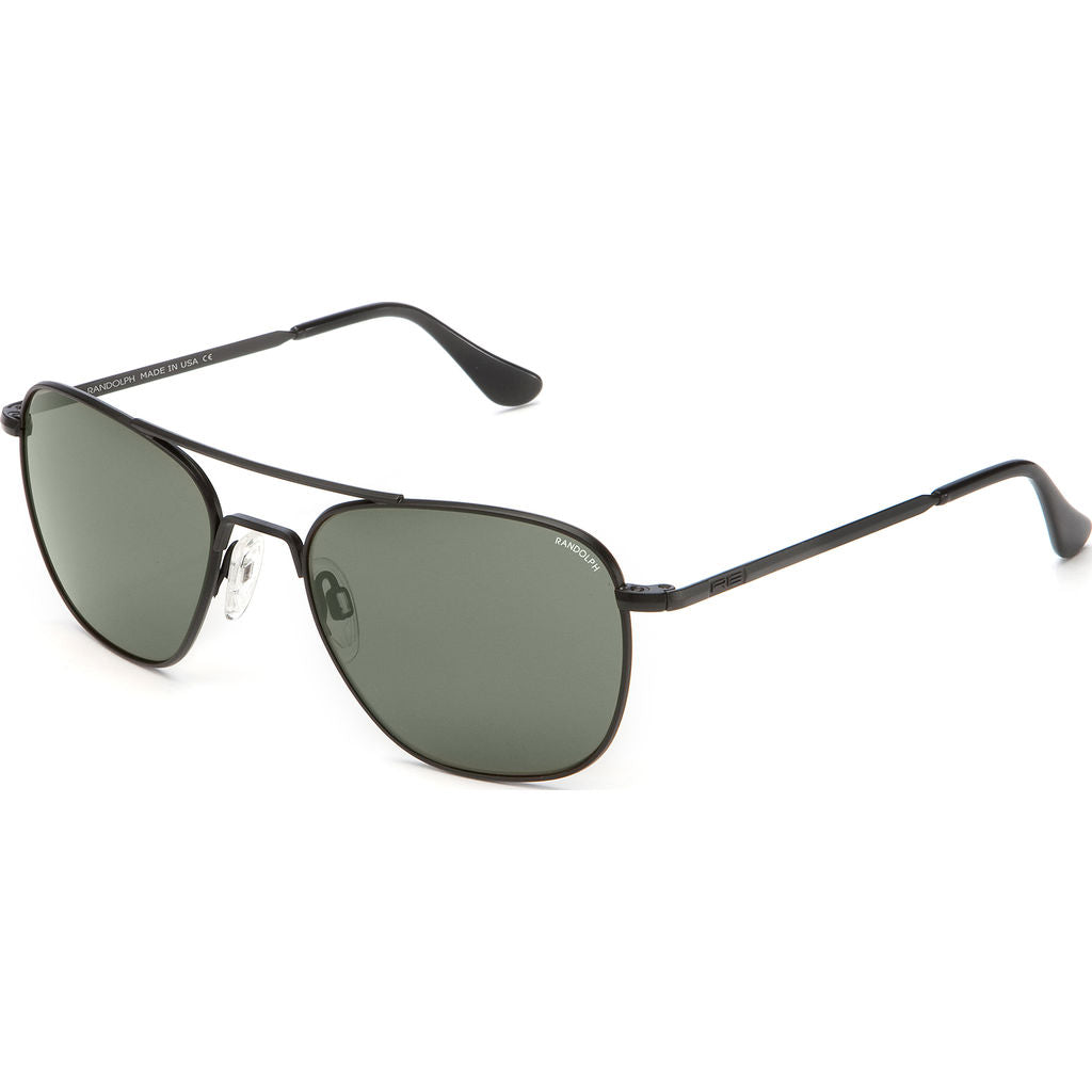 Randolph Engineering Aviator Matte Black Sunglasses | AGX Polarized Skull AR