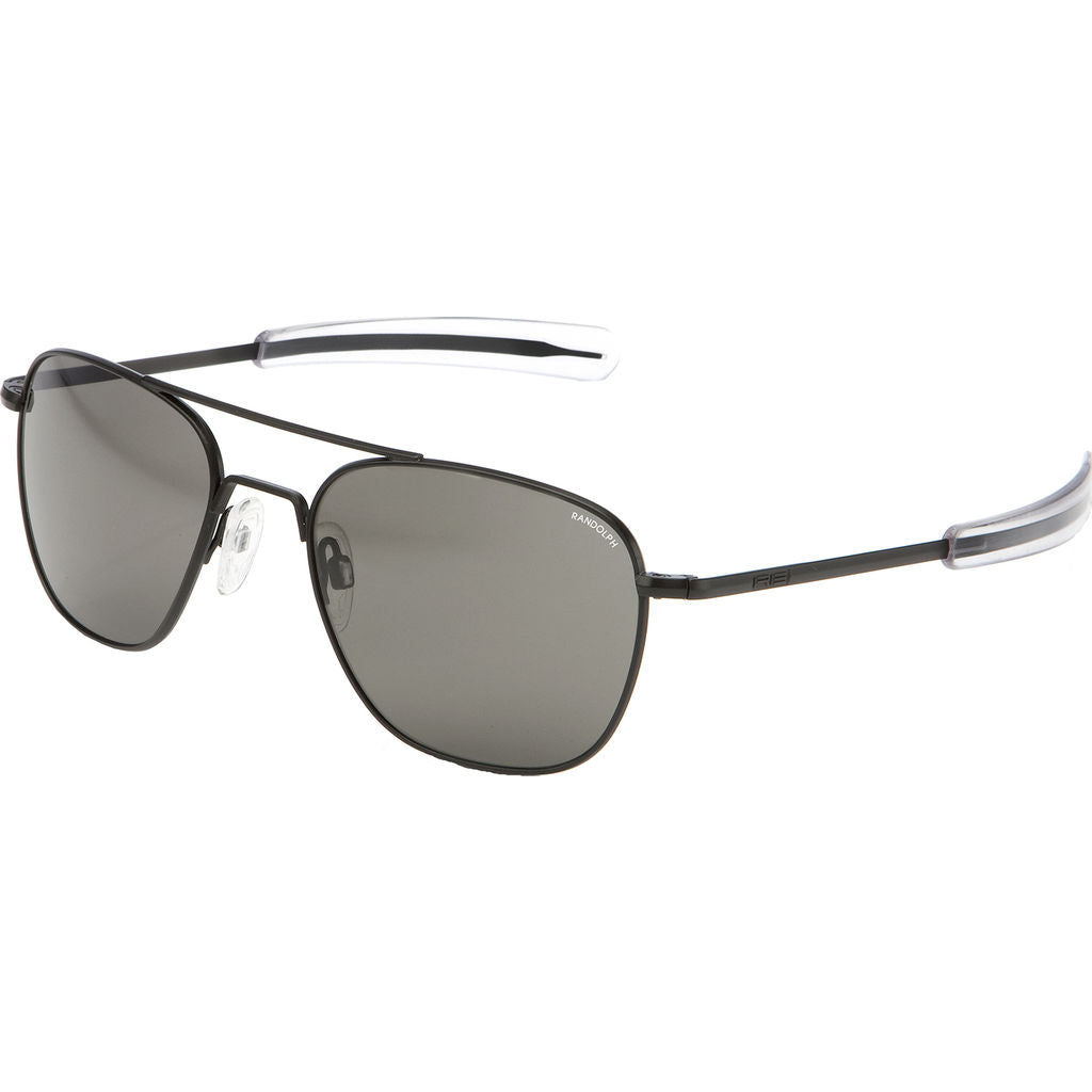Randolph Engineering Aviator Matte Black Sunglasses | Gray Bayonet AR