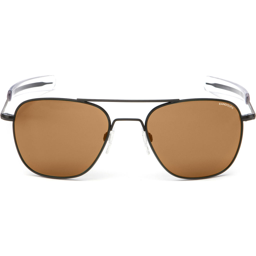 Randolph Engineering Aviator Matte Black | Tan Polarized Bayonet- Af017