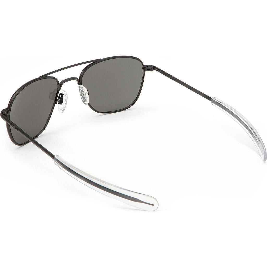 Randolph Engineering Aviator Matte Black Sunglasses | Gray Polarized Bayonet AR