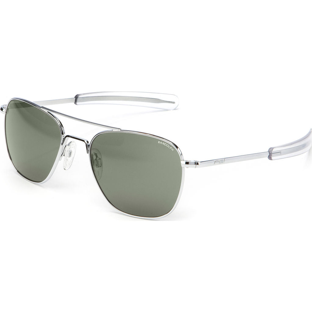 Randolph Engineering Aviator Bright Chrome Sunglasses | AGX Polarized Bayonet AR