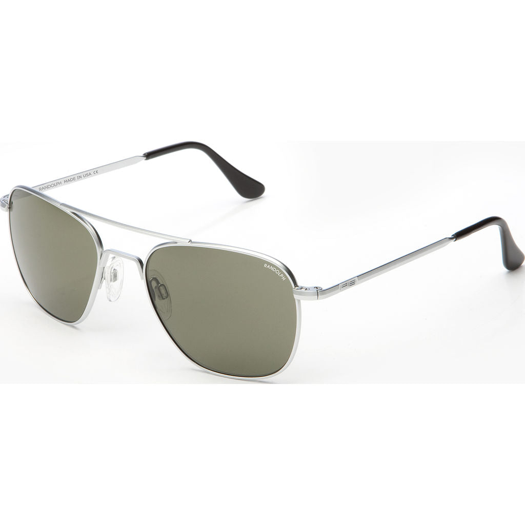 Randolph Engineering Aviator Matte Chrome Sunglasses | Gray Skull AR
