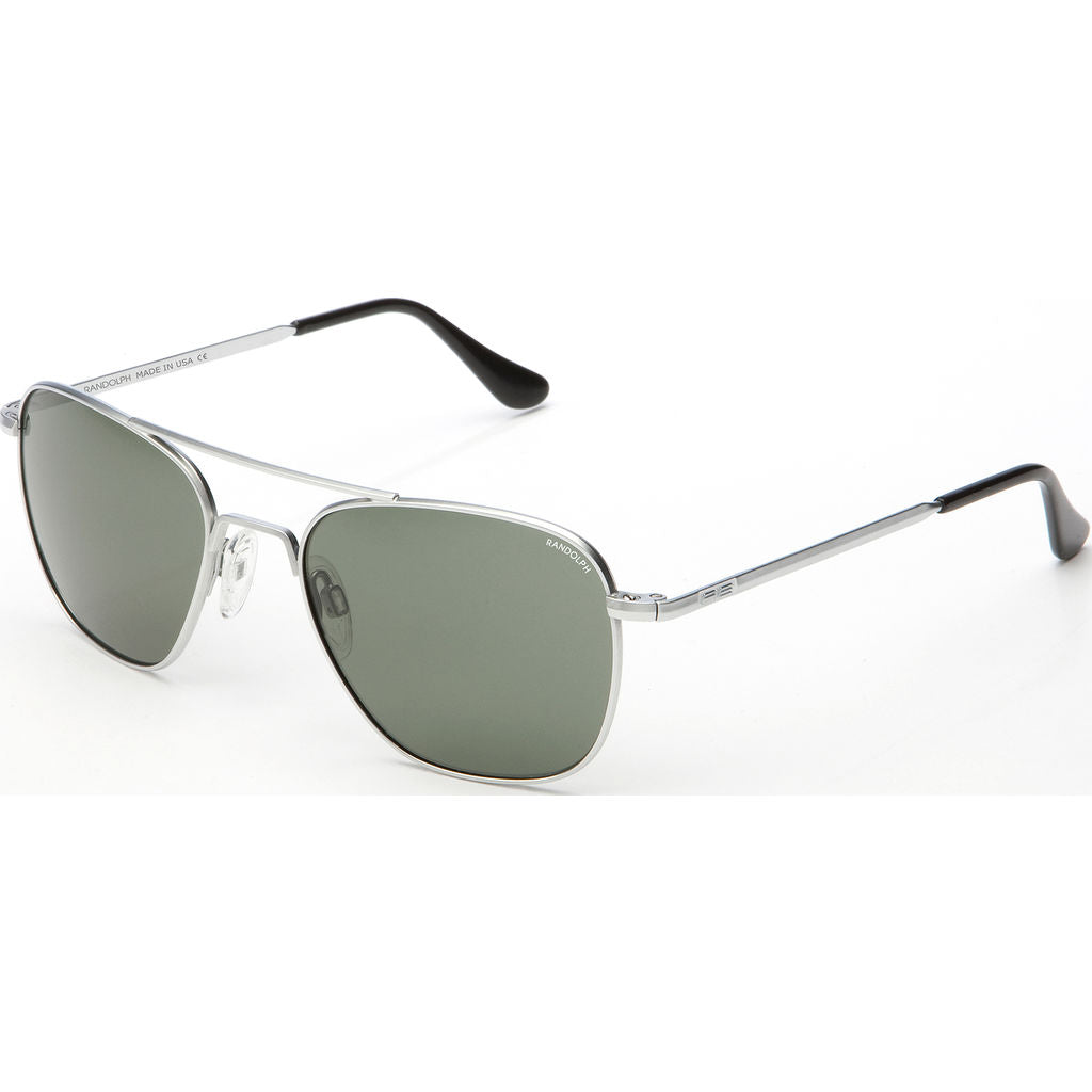 Randolph Engineering Aviator Matte Chrome Sunglasses | AGX Polarized Skull AR